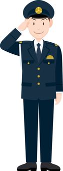 Salvation policeman police officer winter clothes