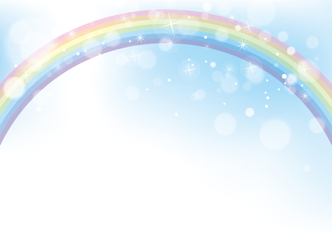 Rainbow and sky background material 03