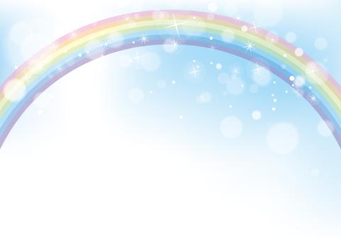 虹と空_背景素材03