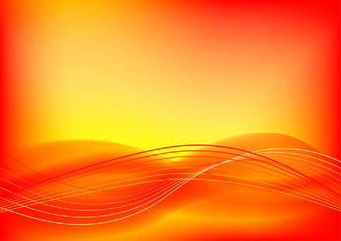 Red abstract wavy lines background material