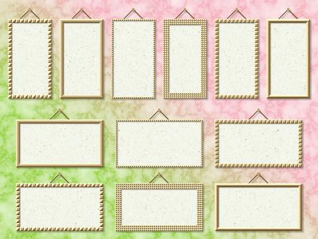 Glitter Frame Japanese Paper Title String Frame