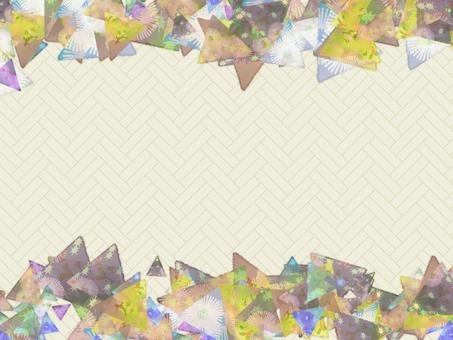 Chiyogami Triangular Spread Card