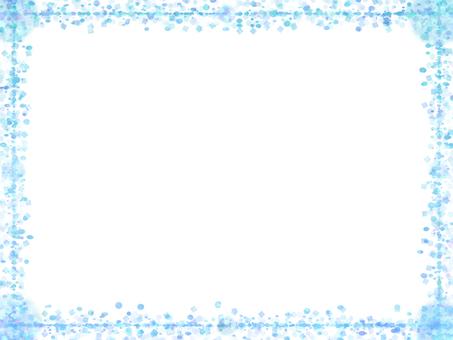 Dot & square frame (blue)