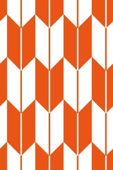 Japanese Pattern Yazaki Orange