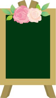 장미 꽃의 칠판