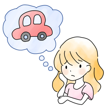 A woman worried about car involvement