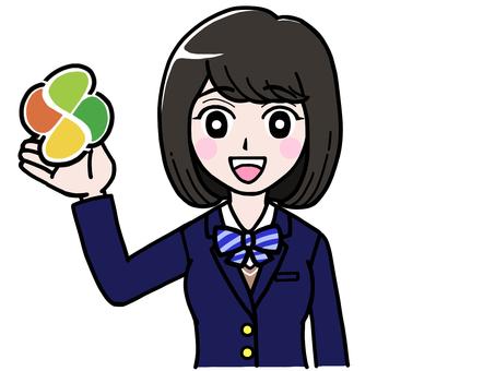 Elderly mark student girl JK high school girl