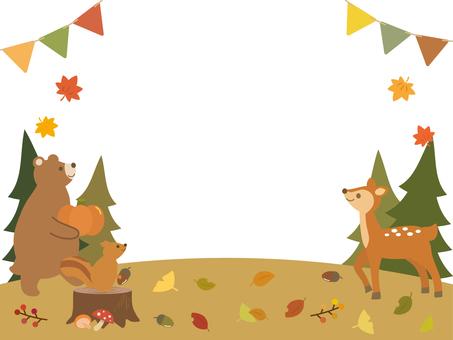 Autumn animal frame 1