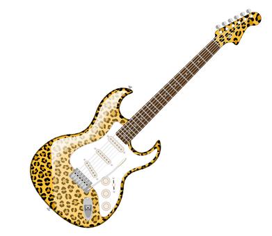 エレキギター ヒョウ柄 ジャガー