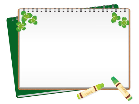 Frame with clover and canvas 03