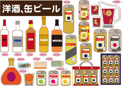 Alcohol (canned beer, liquor, etc.)