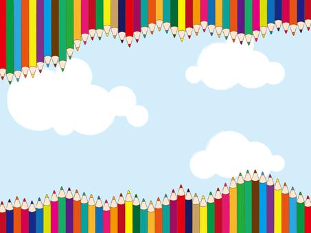 Colored pencil sky