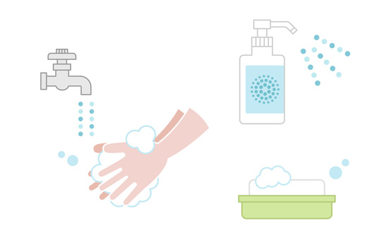 Hand washing disinfectant soap set