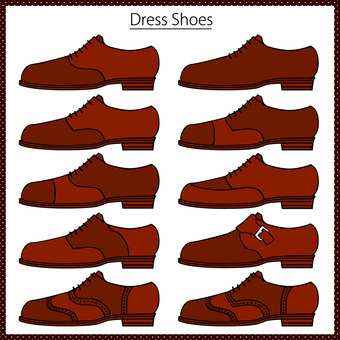 Leather shoes business shoe set 12