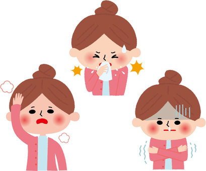 독감 증상 여성