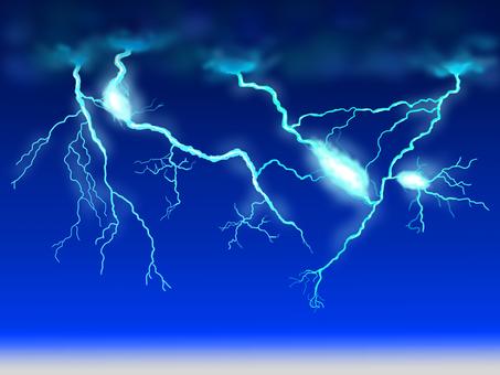 Thunder at night