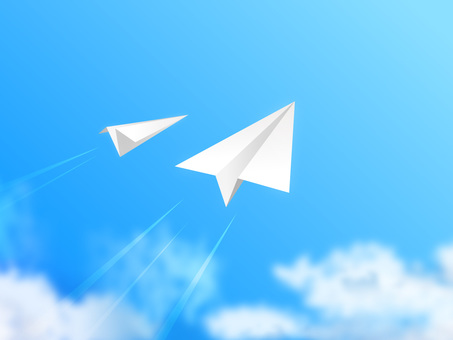 Blue sky and paper airplane 08
