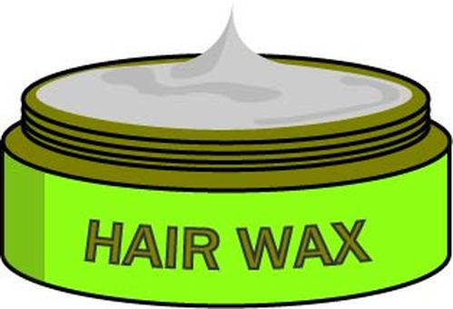 Hair wax (green container)