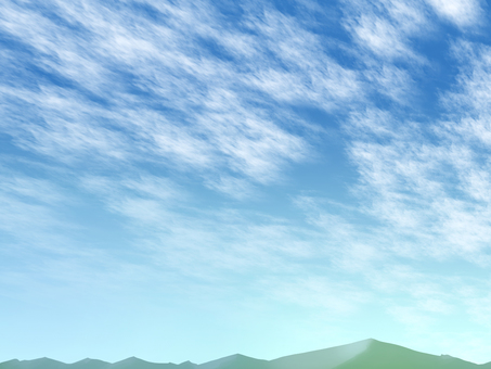 Cloud pattern with mountain