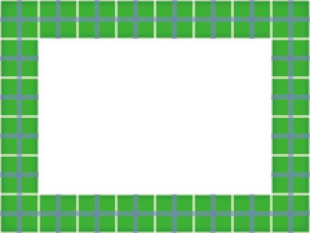 Border frame check 03 green