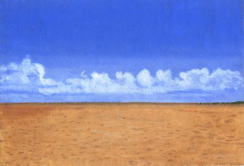수평선과 푸른 하늘