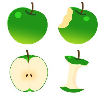 Green apple set