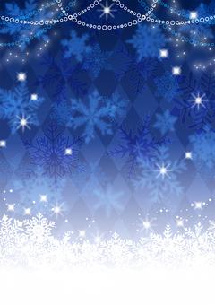 冬クリスマス的雪の結晶キラキラ背景