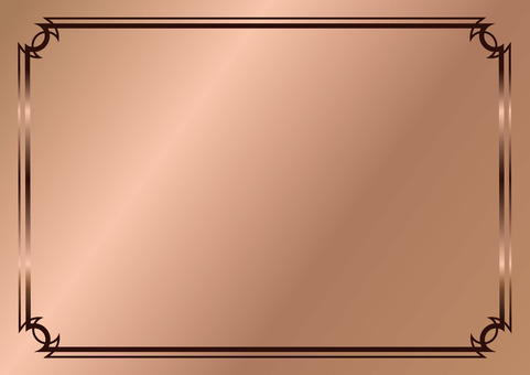 Simple and gorgeous ★ Copper background with decorative borders