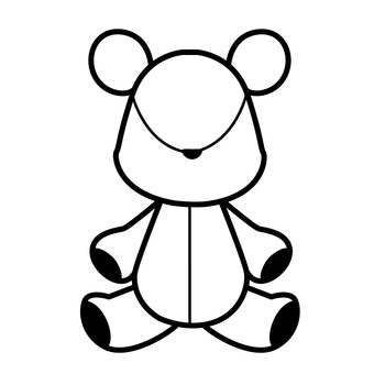 Plush toy icon monochrome