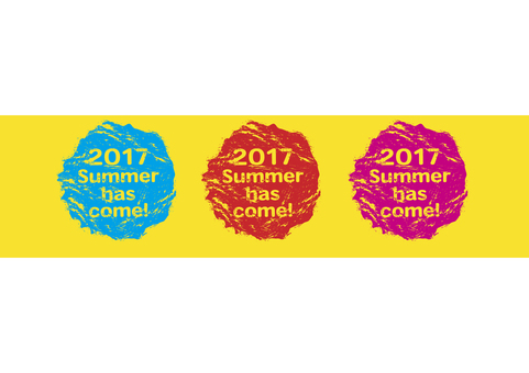 Summer title color stamp