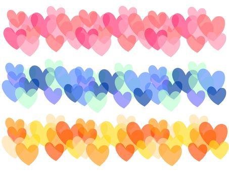 Clear Heart (3 color set)