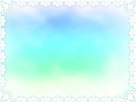 Lace rainbow color frame 2