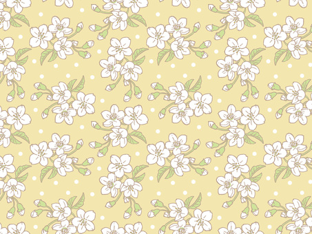 Spring cherry Tile pattern (repeat) C03