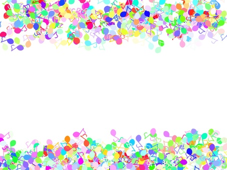 Musical note full of colorful 2