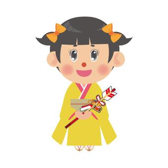 A woman wearing a kimono (Demi Array · Twin Tail)