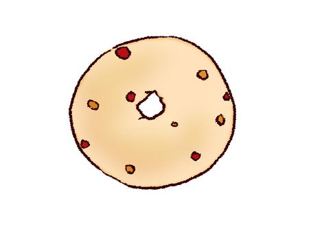 Raspberry bagel