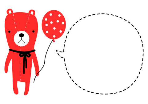 A4 cute teddy bear bear blowing out 004