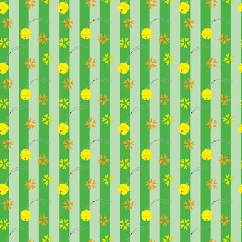 Japanese bell background material (green)