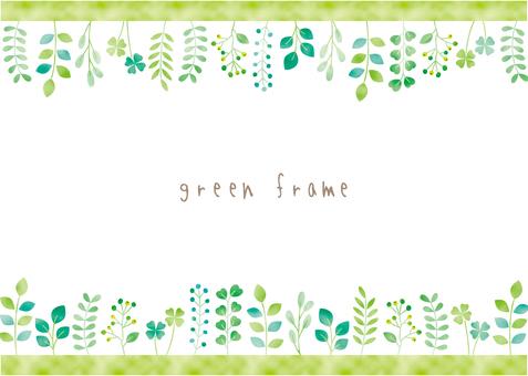 녹색 식물 프레임 01