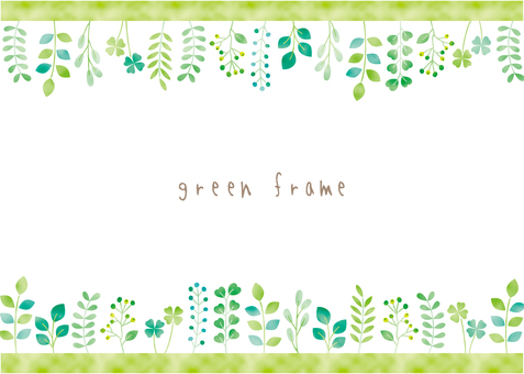 Green plant frame 01