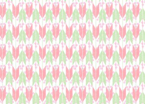 Cherry pattern × 5 arrows