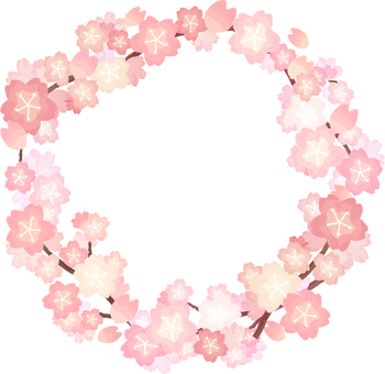 Cherry circular frame