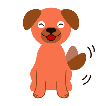 Image of the dog wagging the tail
