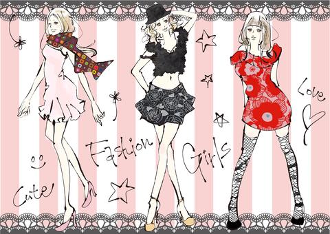 喜歡時尚的女性的插圖2