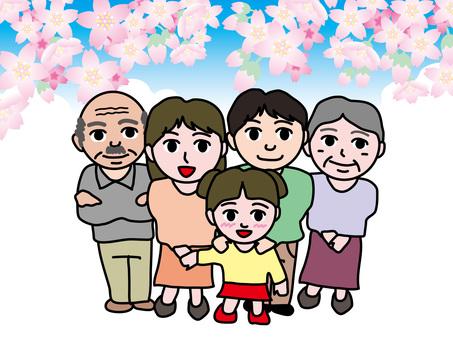 父母和孩子三代四季(1)春天的櫻花