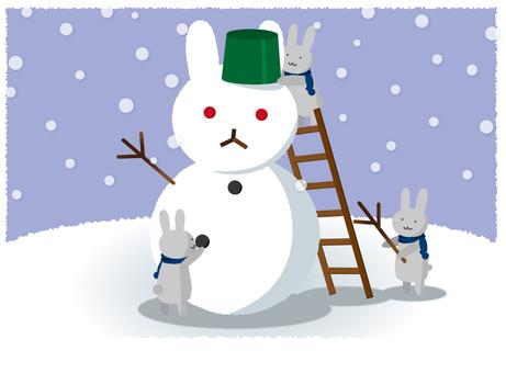 Usagi's Snowman