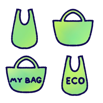 Eco bag set (with contour line)