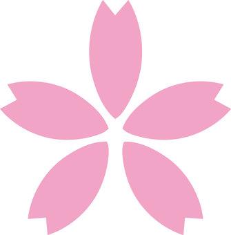 벚꽃의 꽃잎 일러스트 2