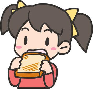 Eat toast