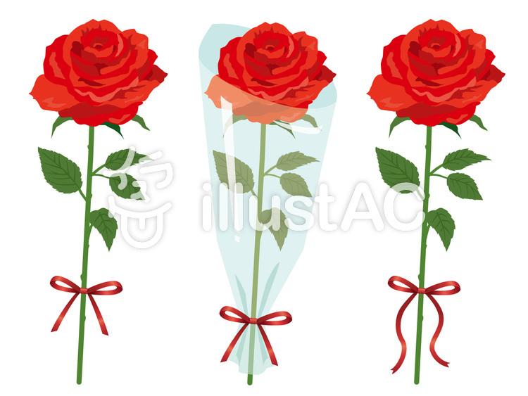 赤いバラ花束イラスト No 425556無料イラストならイラストac